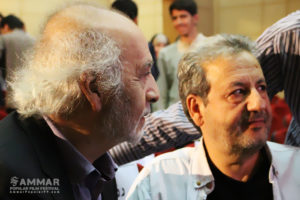 Abolqasem Talebi and Miguel Littin at 3rd Ammar Int'l Popular Film Festival - Photo: Ebrahim Vakili